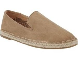 NWT 10 Old Navy Suede tan flats espadrilles